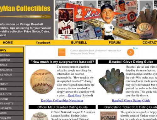"KeyMan Collectibles—A ""GoTo"" site for Vintage Baseball Collectibles Info"