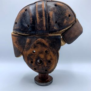 Leather Football Helmet